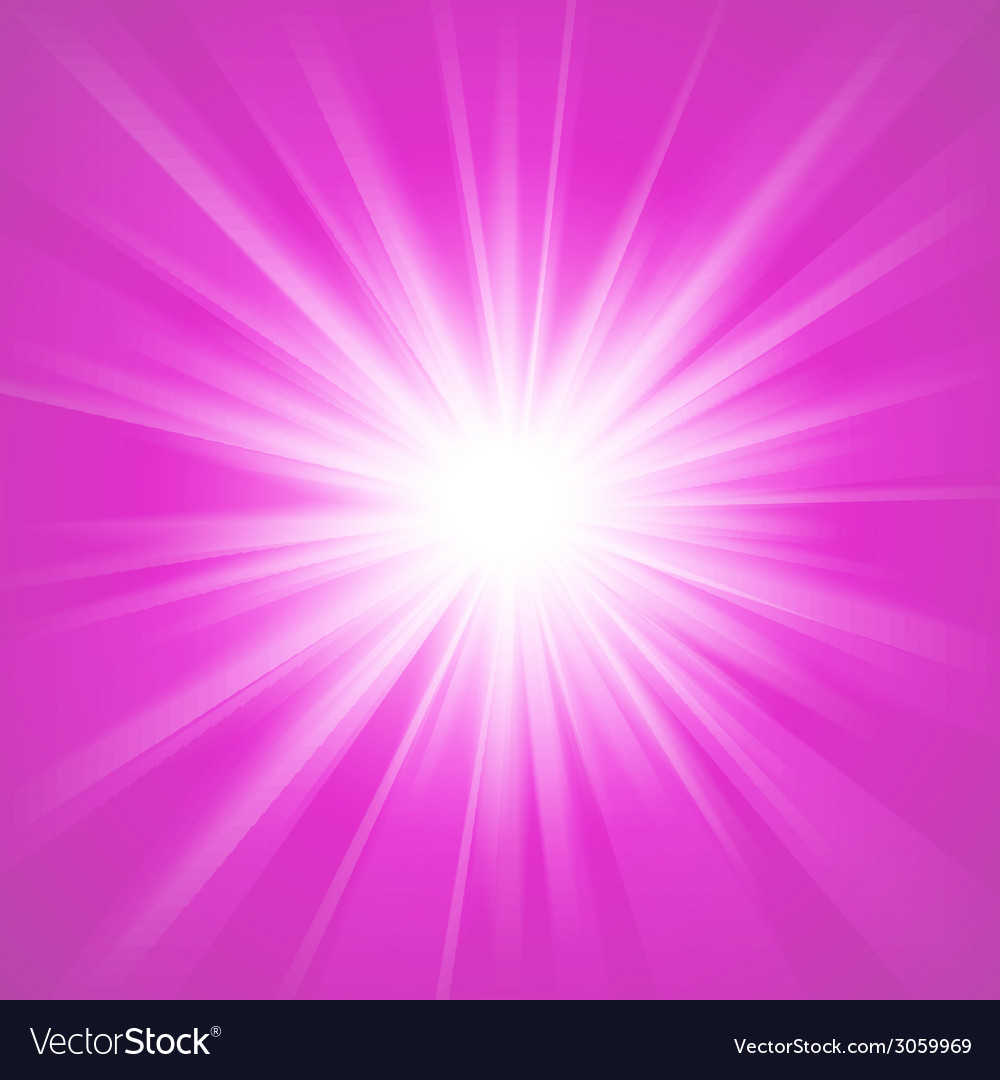 Pink and white abstract magic light background vector
