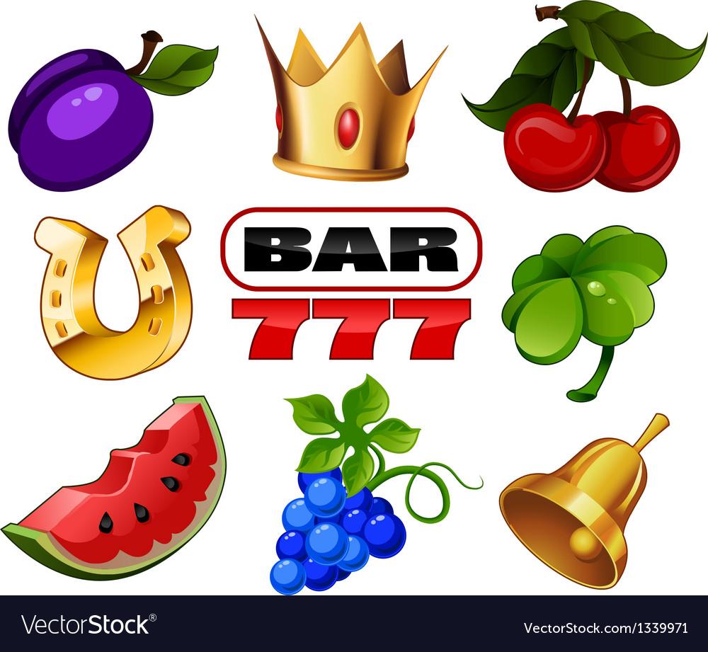 Slot machine icons vector