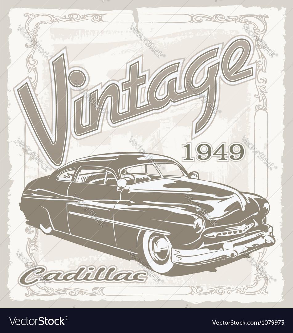 Vintage classic car vector