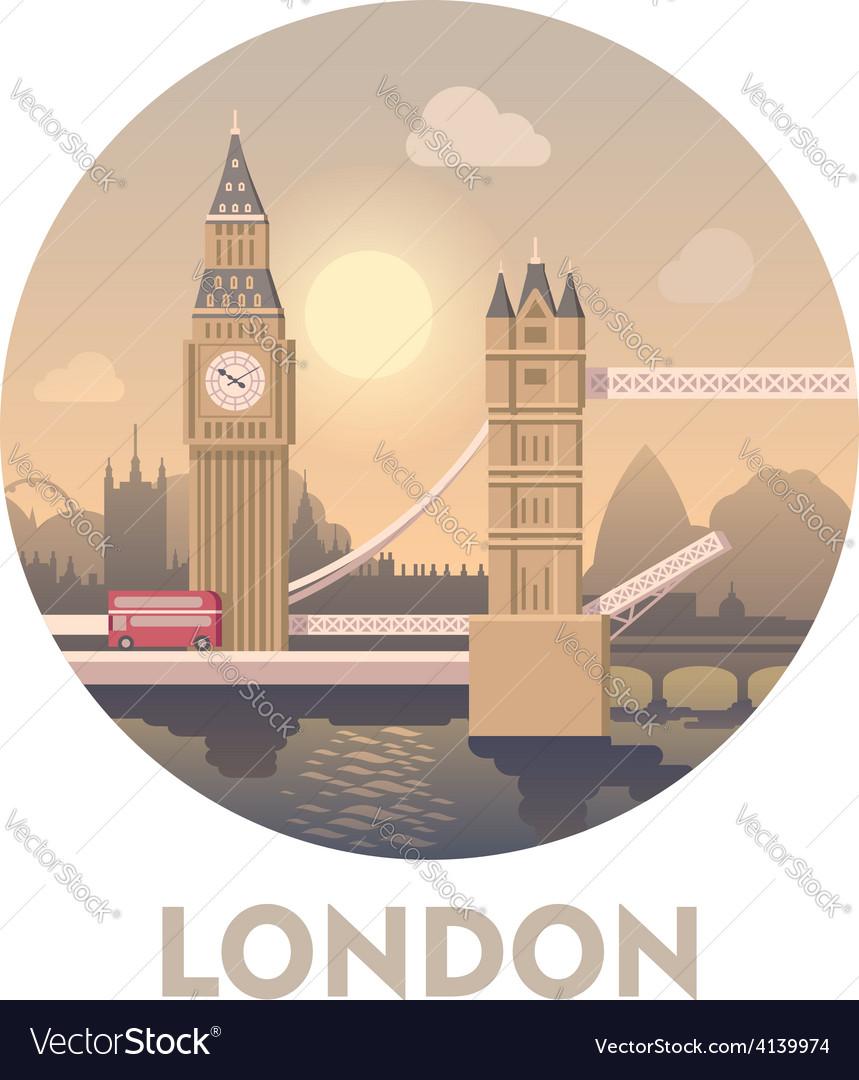 Travel destination london vector
