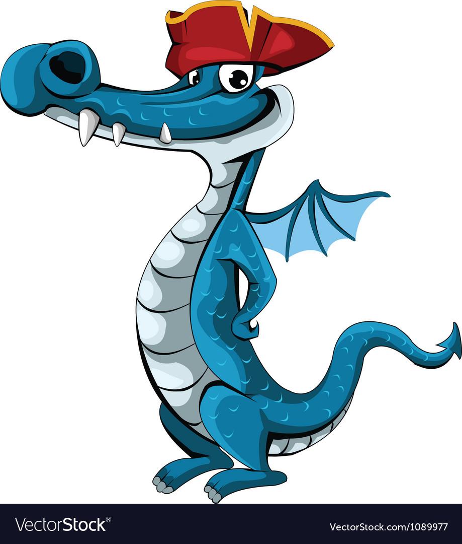 Pirate-dragon vector