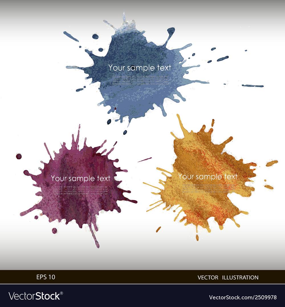 Splash watercolor banner vector