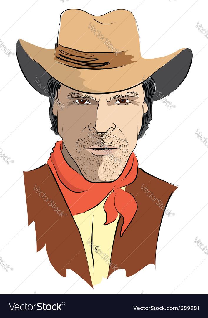 Cowboy face vector