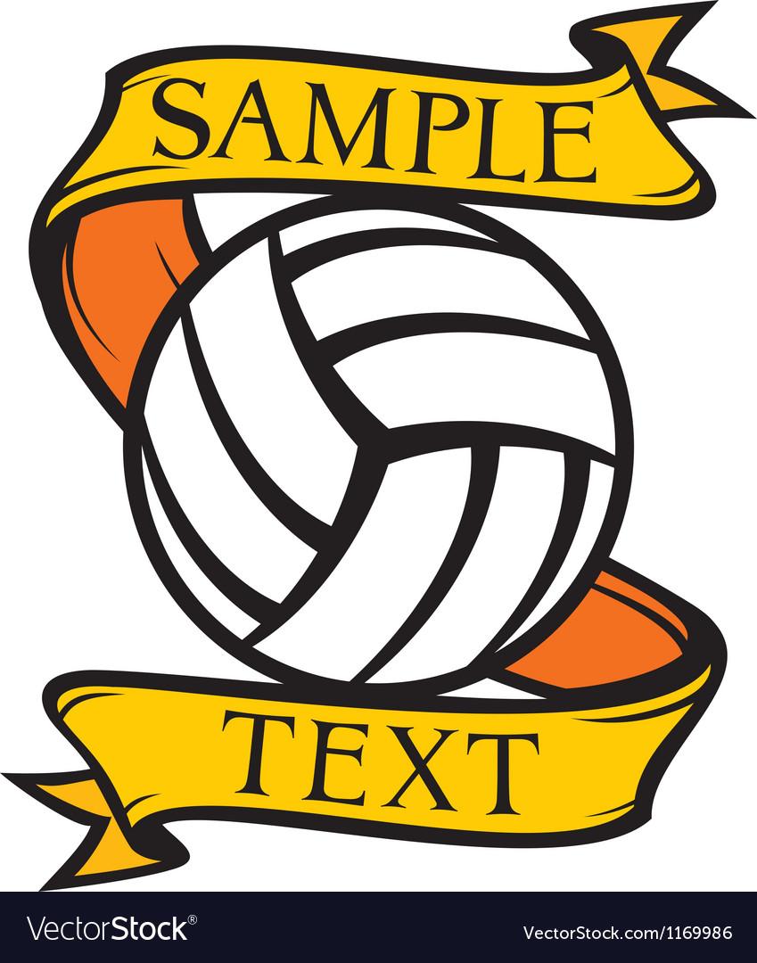Volleyball club emblem vector