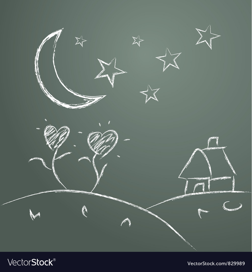 Handwriting of children draw picture vector