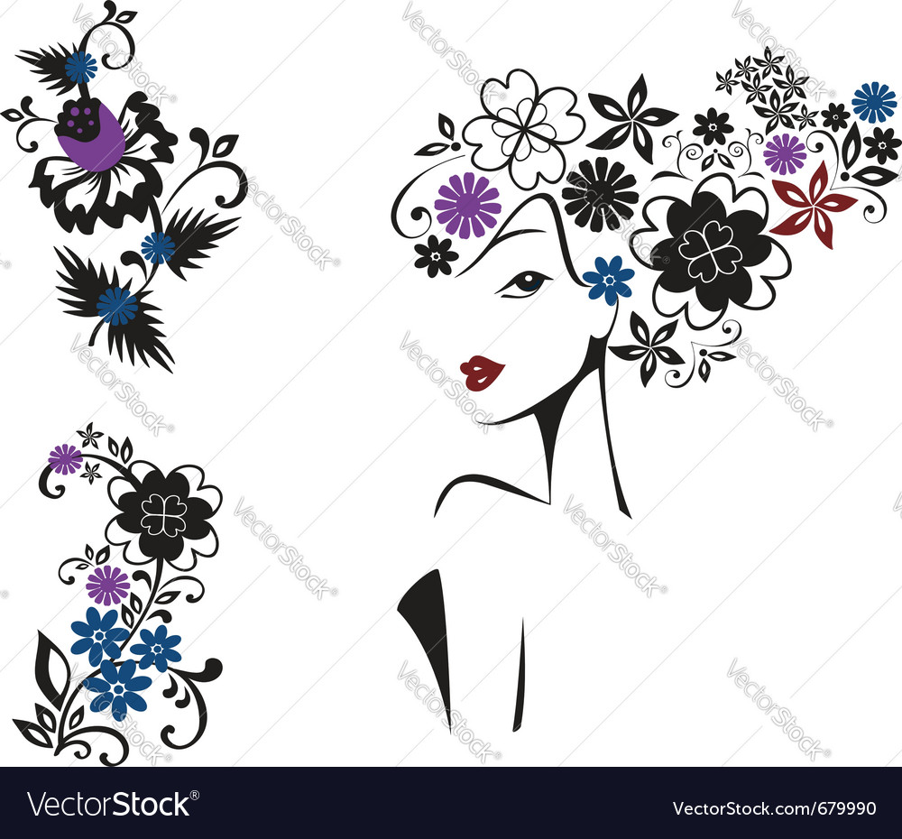 Elegant woman vector