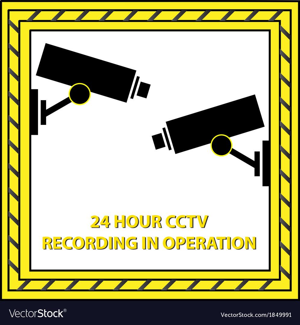 24 hour cctv recording vector