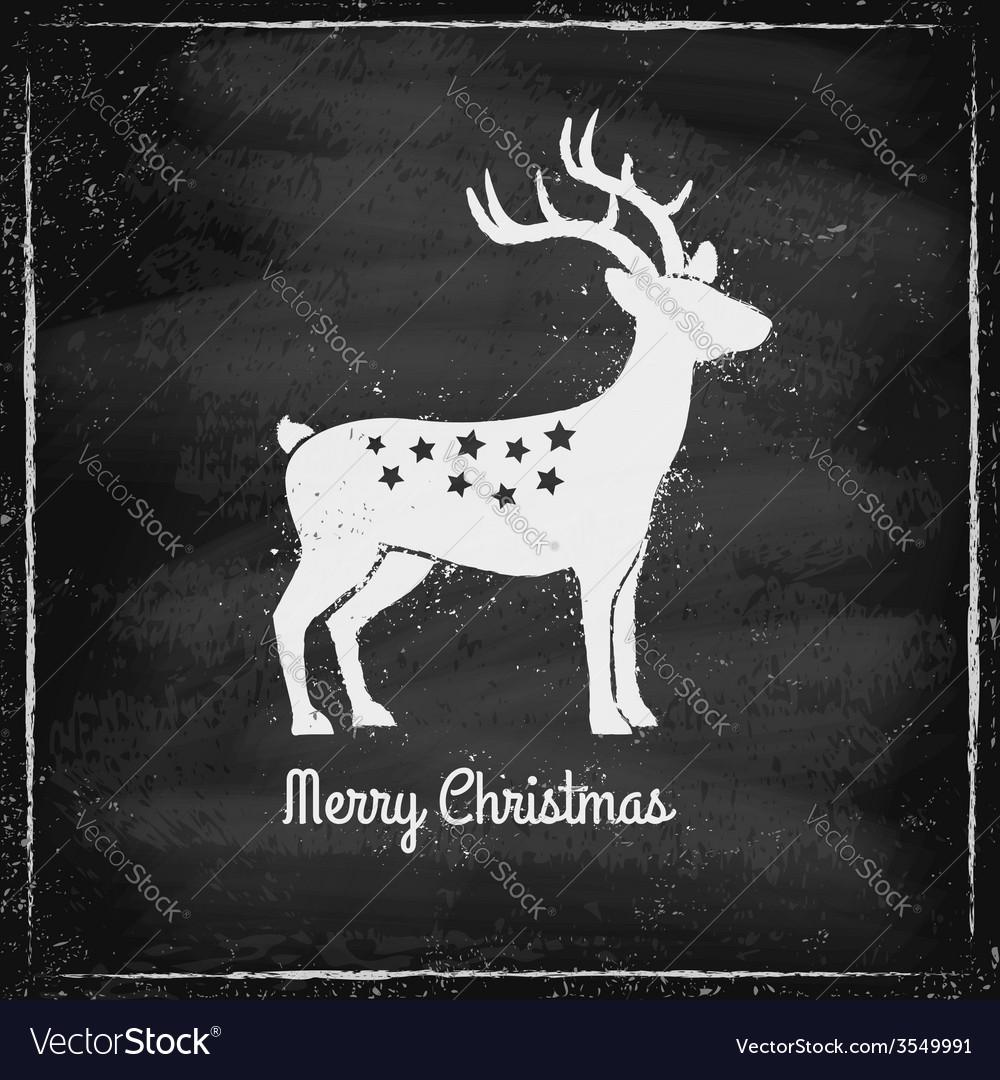 Deer chalk vector