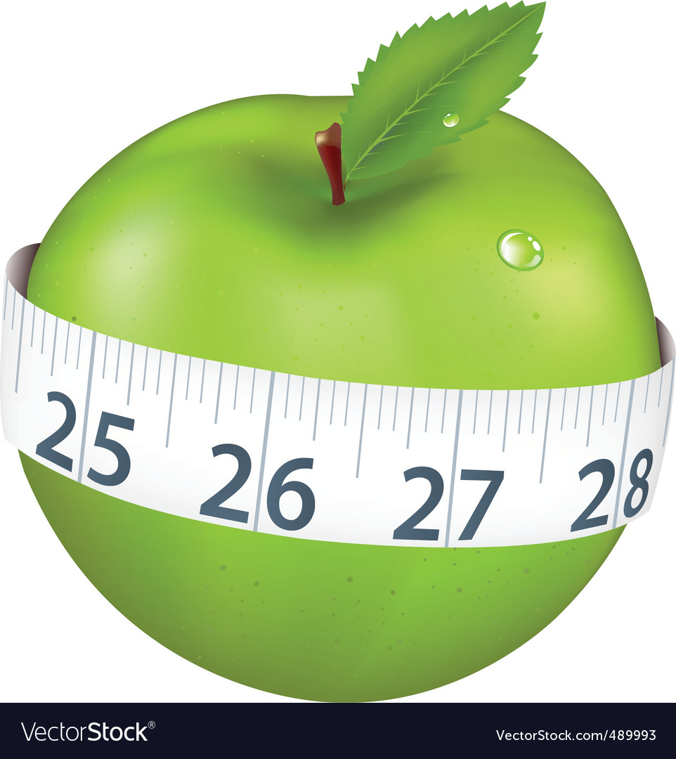 Apple with measurement vector