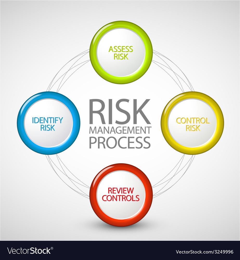Risk management process diagram vector
