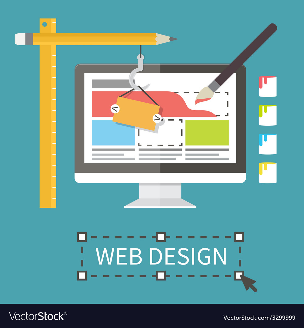 Responsive web design application development and vector
