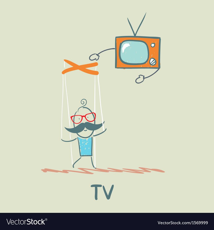 Tv controls the person vector