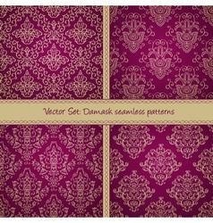 Damask floral textile patter vector