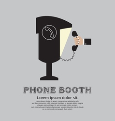 Public phone booth vector