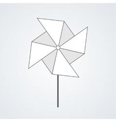Modern windmill background vector