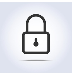 Closed lock icon vector