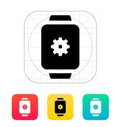Settings in smart watch icon vector