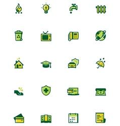 Paying bills icon set vector