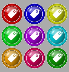 Special offer label icon sign symbol on nine round vector