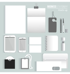Clean blank corporate identity set of vector