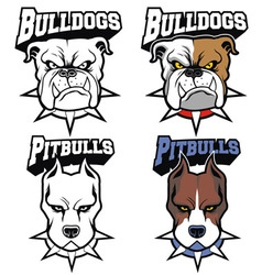 Dogs mascot set vector