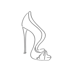Shoes on a high heel isolated on white background vector