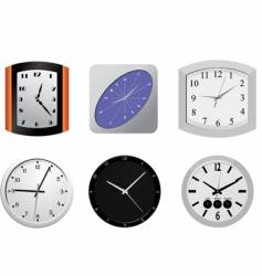 Clocks on the wall vector
