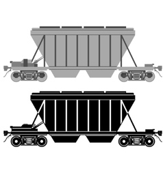 Railway carriage for bulk cargo vector