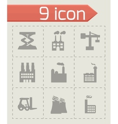 Factory icons set vector