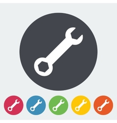 Wrench single icon vector