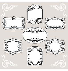 Set of art deco banners vector