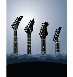 Guitar stock background vector