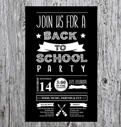Back to school party invitation design template vector