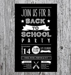 Back to school party invitation design template vector