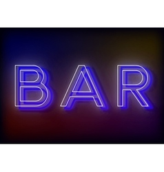 Bar neon sign design for your business vector