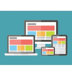Responsive web design application development and vector