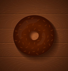 Donut chocolate full vector