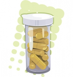 Yellow tablets vector