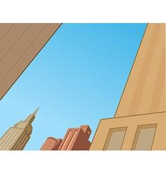 Comics city skyline scene vector