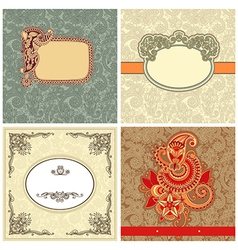Collection of ornate vintage template vector