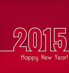 2015 happy new year design over red background vector