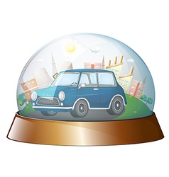 A dome with a blue car vector