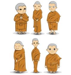 Buddihist nun vector