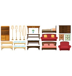 Different furnitures vector