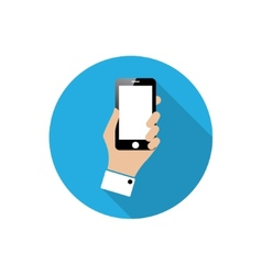 Smartphone in hand vector