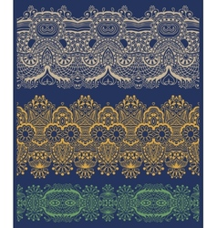 Ethnic floral paisley stripe pattern vector