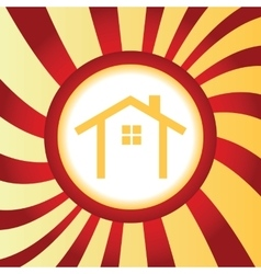 Cottage abstract icon vector