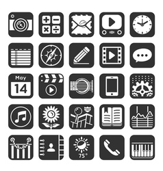 Application icons for smartphone and web vector
