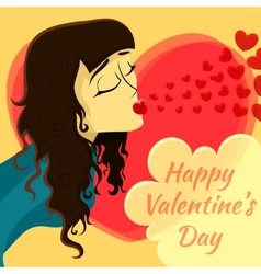 Romantic date valentines day card vector