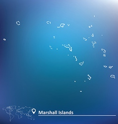 Map of marshall islands vector